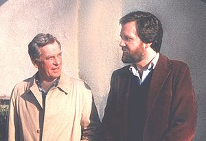 Jonathan Young (psychologist) - Joseph Campbell with Jonathan Young, 1985.