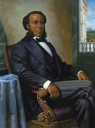 Joseph Rainey - 2004 portrait of Joseph Rainey by Simmie Knox, from the Collection of U.S. House of Representatives.