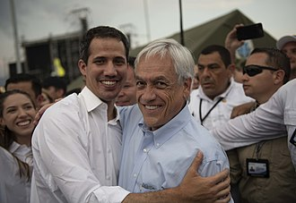 Juan Guaidó - Guaidó and Sebastián Piñera, on 22 February 2019 at Venezuela Aid Live