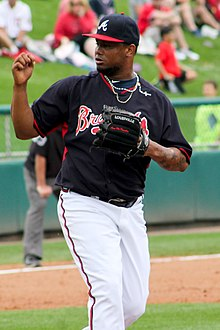 Juan Jaime pitcher 2015 Braves spring training.jpg