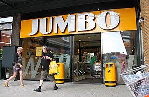 Jumbo (supermarket) - Entrance of a Jumbo supermarket.