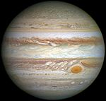 Jupiter and its shrunken Great Red Spot (cropped).jpg
