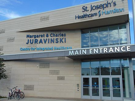Margaret & Charles Juravinski Centre for Integrated Healthcare at the West 5th Campus; 2016 Juravinski mainentrance.jpg