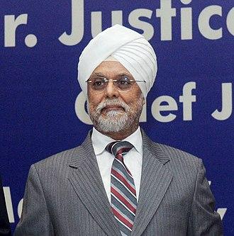 Jagdish Singh Khehar - Image: Justice Jagdish Singh Khehar (cropped)