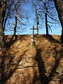 Křížek nad silnicí u Simtanského rybníka na sever.JPG
