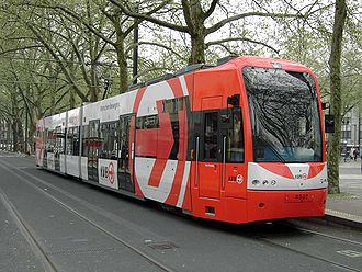 Cologne Stadtbahn - A newer K4500 tram at its presentation on 18 April 2005