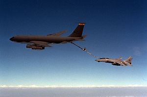 KC-135E Illinois ANG refueling F-14A VF-41 in Gulf War 1991.JPEG