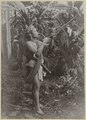 KITLV - 25720 - Demmeni, J. - Young Dayak Sawang Orang playing the kledi (wind instrument), Upper Mahakam, Central Borneo - 1898-1900.tif