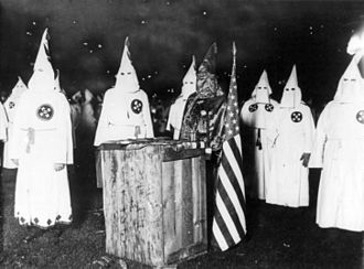 Ku Klux Klan - KKK night rally in Chicago, c. 1920