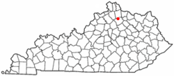 Location of Berry, Kentucky