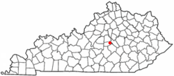 Location of Danville, Kentucky