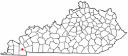 Location of Hardin, Kentucky