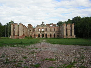 Finckenstein Palace - Ruins of palace, 2006.