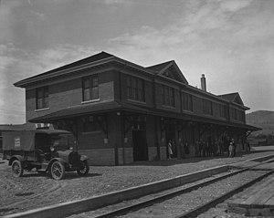 Kamloops station - The station circa 1927