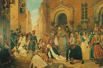 History of modern Greece - Assassination of Ioannis Kapodistrias by Dionysios Tsokos.