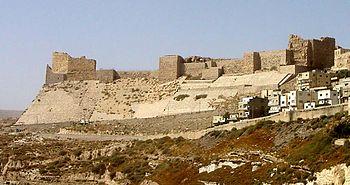The crusader castle Kerak in today's Jordan