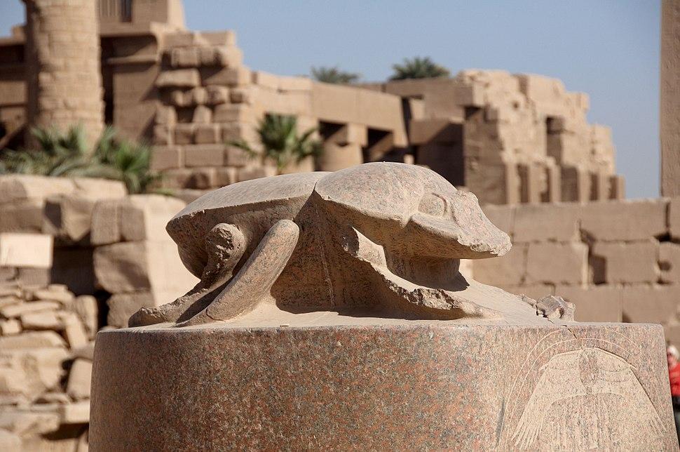 Karnak temple scarab beetle A