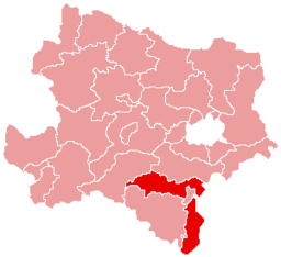 Bezirk Wiener Neustadt-Land location map