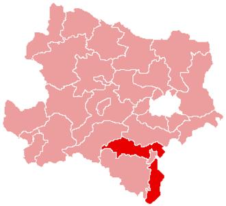 Wiener Neustadt-Land District - Image: Karte Aut Noe WB