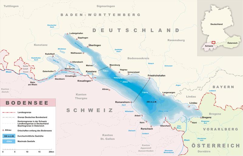Боденское озеро, карта