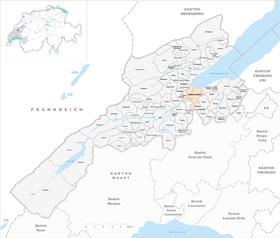 Karte von Yverdon-les-Bains