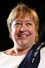 Photo of Kathy Bates at the Giffoni Film Festival in 2006.