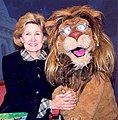 Kay Bailey Hutchison and Theo from the PBS show Between the Lions.jpg