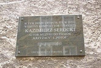Kazimierz Serocki - Kazimierz-Serocki-plaque-in-Torun-Poland