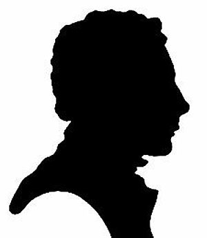 Charles Armitage Brown - Silhouette of Keats by Charles Brown (1819), given to Keats's sister