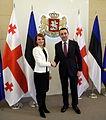 Keit Pentus-Rosimannus with Irakli Garibashvili in Tbilisi.jpg