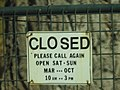 Kennedy Mine--Gold Mine's hours of operation sign.jpg