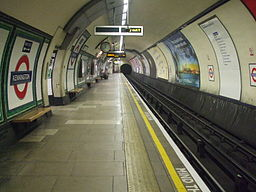 Kennington station southbound Charing X look north