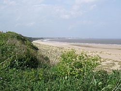Kessingland cliffs and beach in