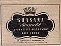 Khasana Kosmetik Frankfurt am Main, 1946.jpg