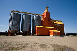 Kincaid grain elevator