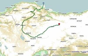 Kızılırmak River - geographical position of Kızılırmak