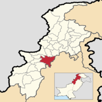 Location of Kohat District (highlighted in red) within the Khyber-Pakhtunkhwa Province.