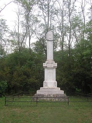 Second Battle of Komárom (1849) - Memorial column for the Battle of Ács