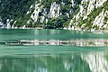 Koman Gorge, the sad side, floating plastic island (45679217132).jpg