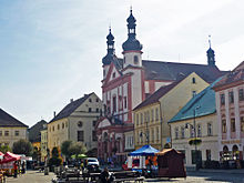 The Jesuit church in Komotau (Source: Wikimedia)