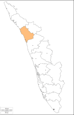 Location in Kerala