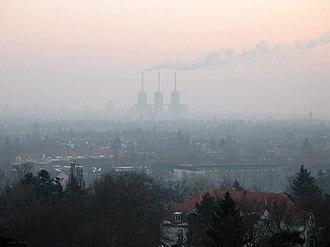 Mist - Power station visible through mist