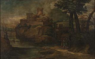 Kristus med två lärjungar i Emmaus