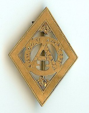 Kuklos Adelphon - Badge of the Kuklos Adelphon fraternity circa 1850s