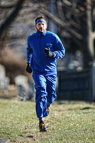 Tracksuit - Man wearing a tracksuit running