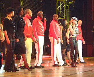 Kylie Minogue - Minogue and her troupe during the end of the Money Can't Buy concert, at London's Hammersmith Apollo