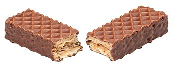 English: Little Debbie Nutty Bar, shown split ...
