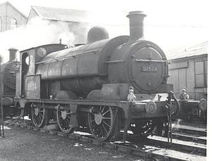 LYR Aspinall Class 23 O-6-0ST 51524 at Fleetwood in 1958.jpg