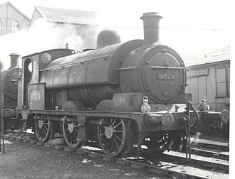 L&YR Class 23 - Image: LYR Aspinall Class 23 O 6 0ST 51524 at Fleetwood in 1958
