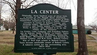 LaCenter, Kentucky - Historical marker in La Center